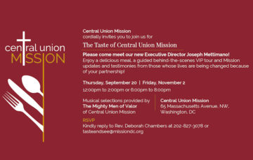 A Taste Of Central Union Mission